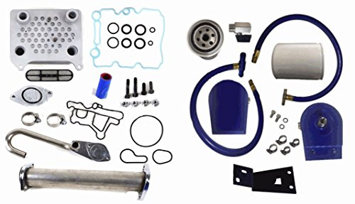 Ford Powerstroke EGR Complete Kit Coolant Filter Diesel 6.0L 2003-2007 Cooler - Excursion Powerstroke Diesel Exhaust System