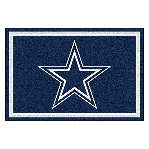 Gameroom Carpet Rug - FANMATS NFL Dallas Cowboys Nylon Face 5X8 Plush Rug