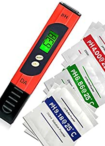 Digital Aid pH Meter. Professional Quality Water Test Meter by Large Backlit LCD Screen. Range 0.00 to 14.0 pH. 3 Free Buffer Solution Powders. Plus get 6 more - see Promotion below.