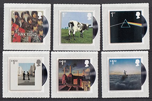 Royal Mail Pink Floyd Six Album Covers Stamp Set Collectible Postage Stamps
