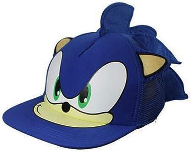 TOSKATOK Gorra Sonic Azul con Orejeras Gorra de Béisbol de Dibujos ...
