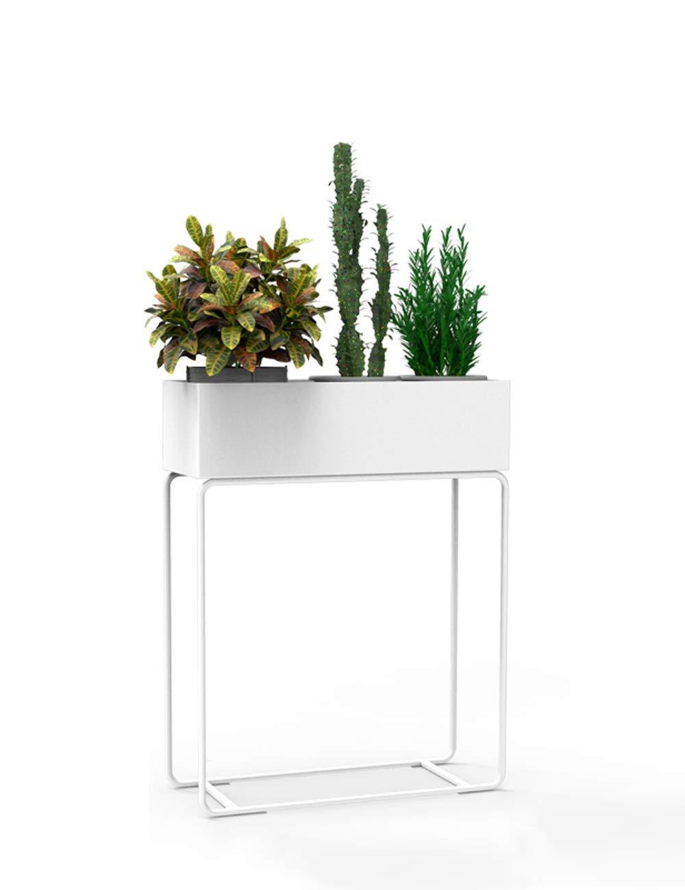 ガーデンフラワーポットラックホームフラワースタンド耐久性のある植物ラック パンチする必要はありません、インストールする必要はありません、北欧のバルコニー緑の植物の洗面器垂直錬鉄製モダンミニマリストクリエイティブリビングルームのインテリア装飾フラワースタンド(様々なスタイル、色) (色 : White, サイズ : Tuba-Single layer) B07P9QKLP1 White Tuba-Single layer