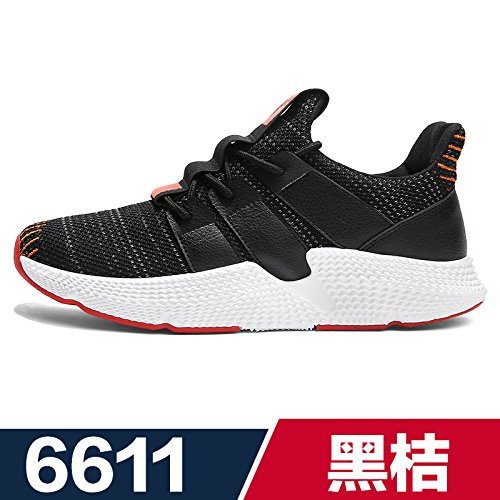 orange shoes Sports black 6611 Running Leisure Flying Fabric GUNAINDMX Men's Breathable Spring npx6HqP1