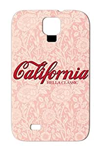 California Hella Classic Script Logo Red Cover Case For Sumsang Galaxy S4 Cities Countries States Hella California Classic Smooth Script