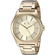 Armani Exchange Men's 'Smart' Quartz Stainless Steel Automatic Watch, Color:Gold-Toned (Model: AX2321)