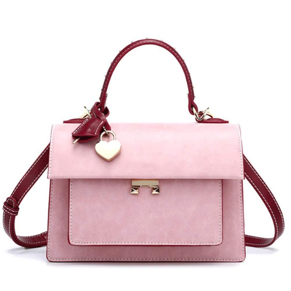 新しいファッション汎用ワンショルダーポータブルメッセンジャーバッグ小さな新鮮な気質シンプルなハンドバッグ (色 : Pink) B07NMRDV2T Pink