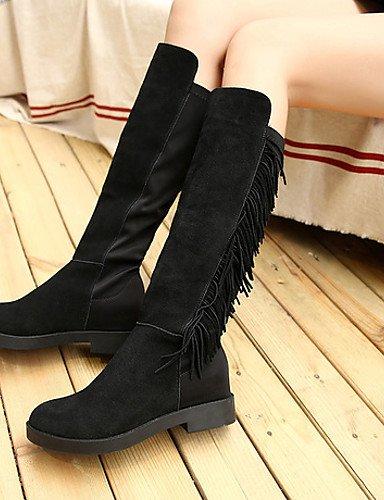 cn39 Vellón Zapatos eu36 Botas eu39 Casual us6 eu39 Tacón la uk4 a uk6 us8 cn36 Moda mujer Bajo uk6 black black cn39 us8 Botas XZZ black de Negro TdZqPzP
