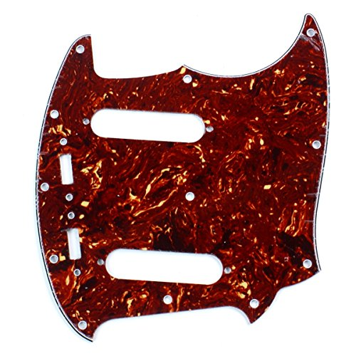 B74-Custom-4-Ply-Guitar-Pickguard-Fits-Mustang-Classic-Series-Red-Tortoise
