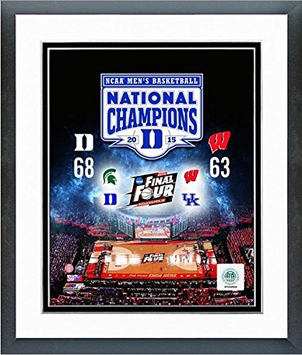 "Duke Blue Devils 2015 NCAA Final Four Champions Photo (Size: 12.5"" x 15.5"") Framed"