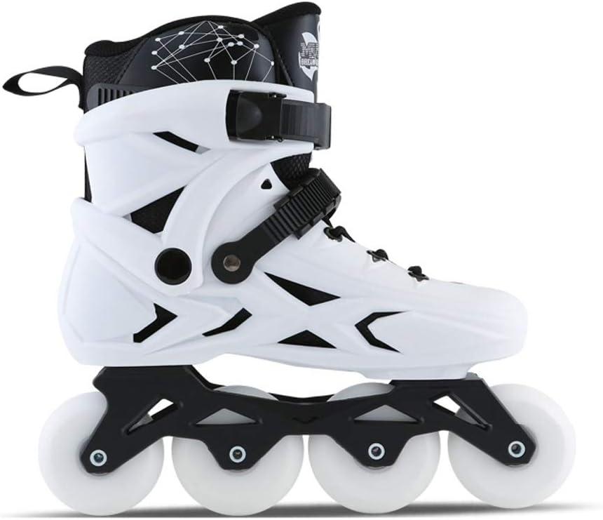 インラインスケート、初心者単列スピードスケート靴メンズローラースケートホワイト、ブラック (Color : 白い, Size : 41 EU/8 US/7 UK/25.5cm JP) 白い 41 EU/8 US/7 UK/25.5cm JP