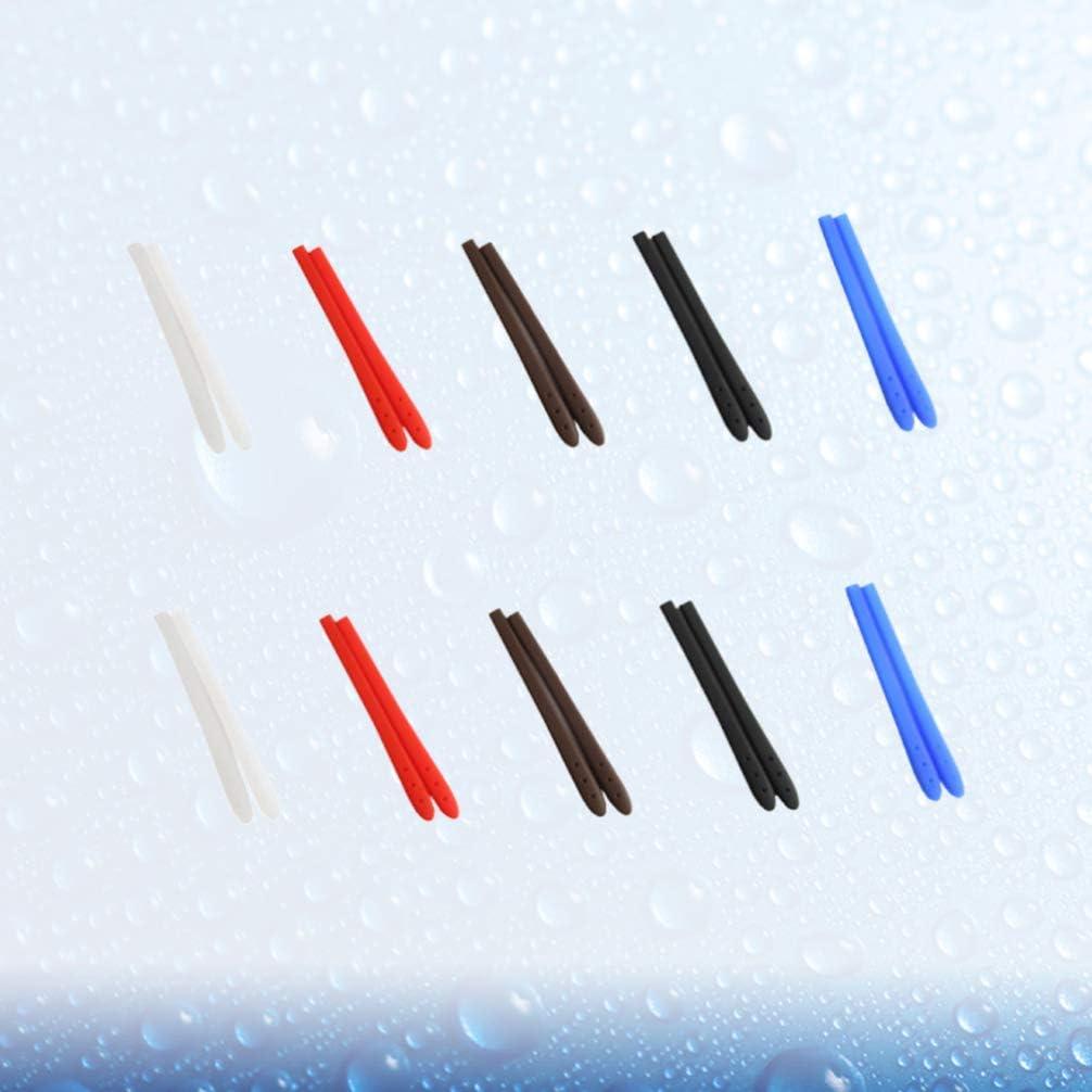 Exceart 10 Paar Silikonbrillen Tempel Tipps H/ülse Rutschfeste Halterung Elastische Beinabdeckung f/ür Brillen Sonnenbrille Lesebrille Brillen Wei/ß Schwarz Rot Blau Blau