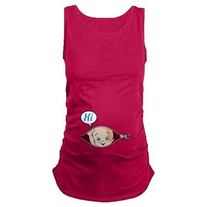 Aiming Embarazadas Mujeres de Las Camisetas de Maternidad Tees Ropa de enfermería Superior del Chaleco del