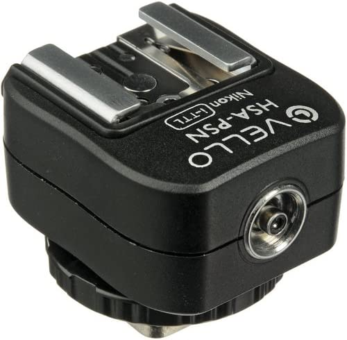 Vello Hot Shoe Adapter with PC Socket for Nikon i-TTL Top Shoe