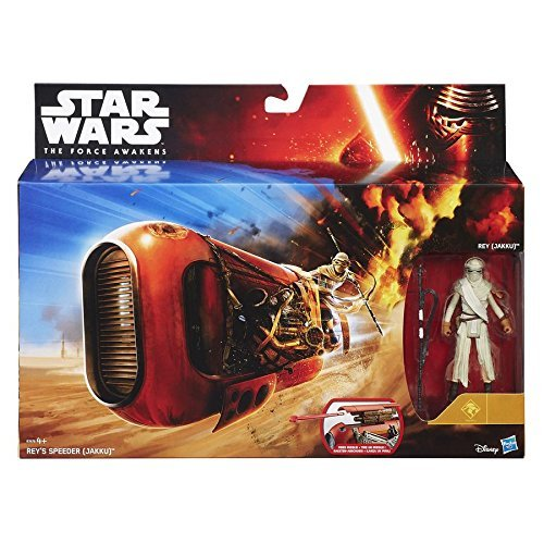 Hasbro Star Wars Episode Vii - The Force Awakens Reys Speeder (Jakku) Vehicle Set B3676 - Hasbro Star Wars Episode