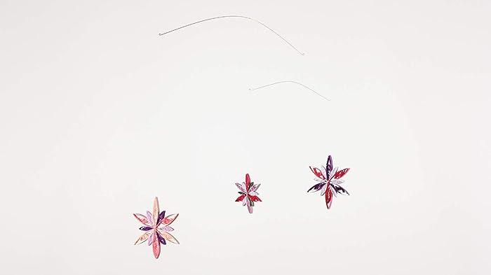 Windstill Mobile Pink Moon: 3 Papier Sterne, Sterne-Mobile fürs ...