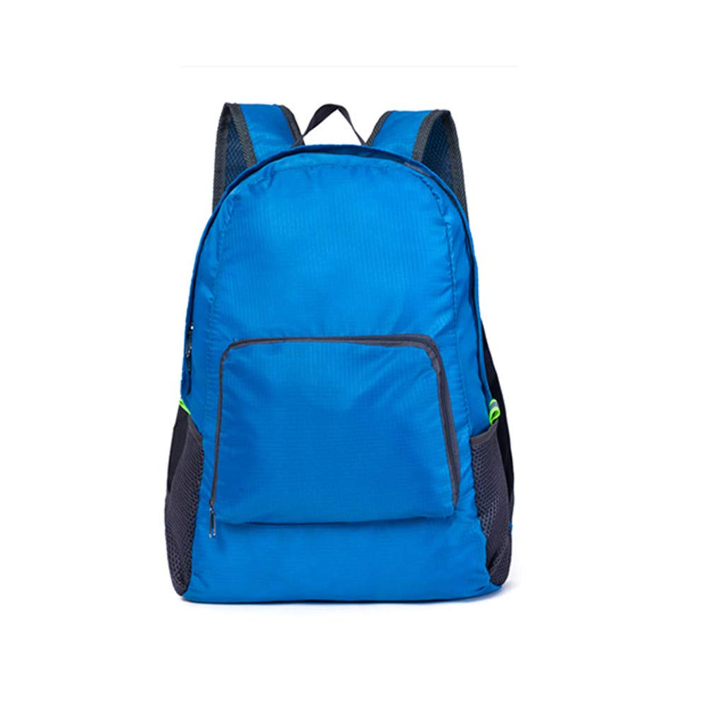 Bags for Women Girls,Lightweight Waterproof School Bag Neutral Fold Backapck Zipper Water Repellent Nylon Travel Rucksack (Blue, 30cm(L) x16cm(W) x42cm(H)) SB-GB78
