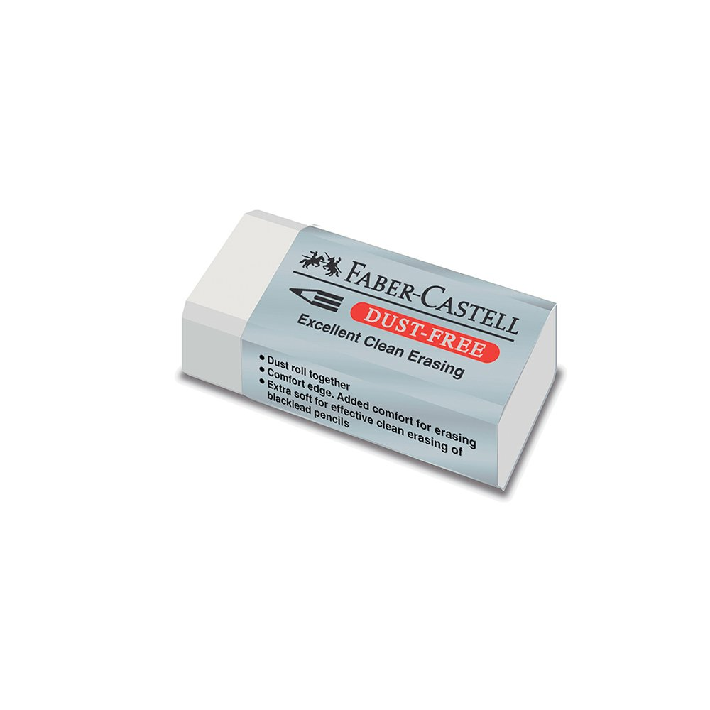 Faber-Castell 187130-BOX30 Dust Free Eraser - White (Pack of 30)