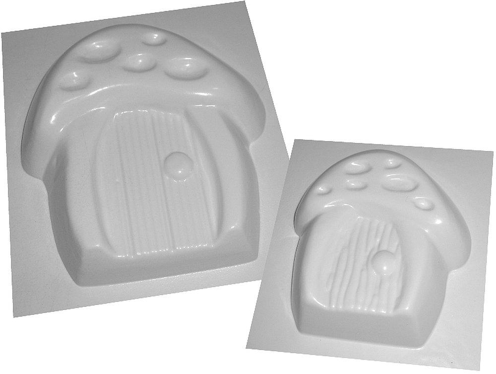 Puerta de hadas Casa moldes para hormigón o el yeso moldes de plástico ABS - Juego de 2: Amazon.es: Hogar