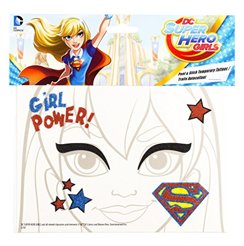 Super Girl Girl Power Peel and Stick Face Tattoos -