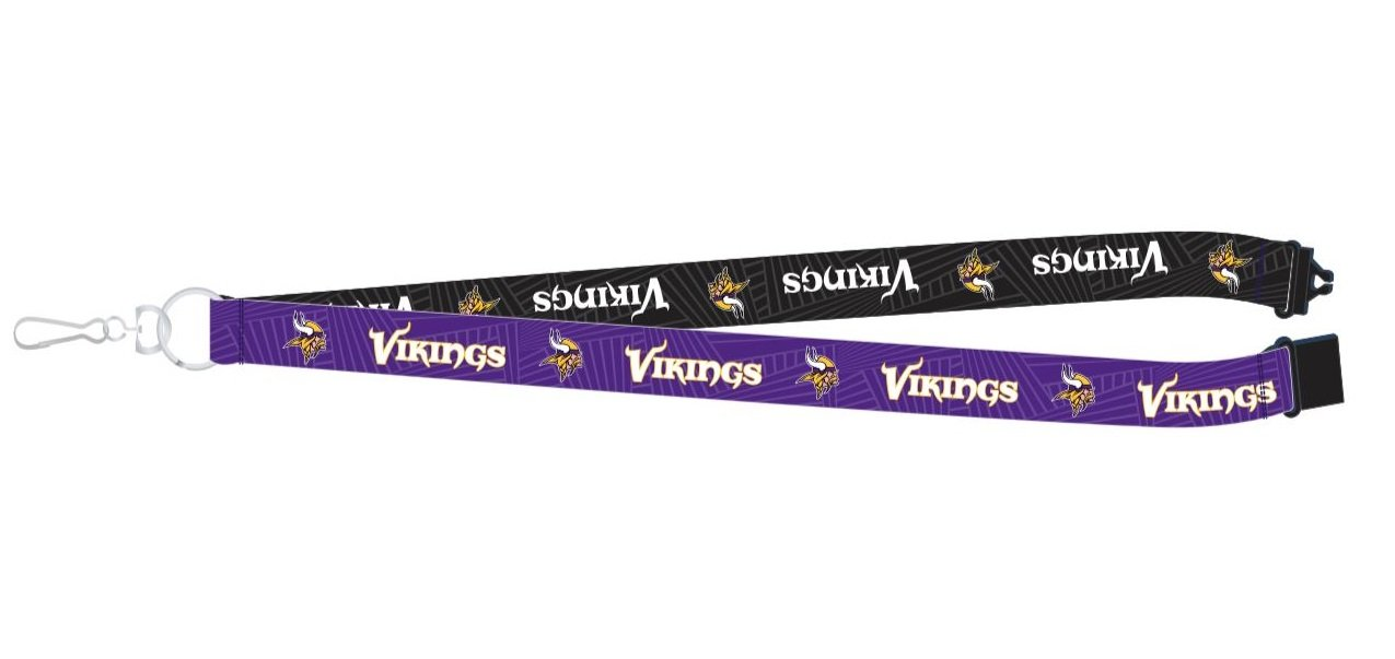 18-inches Pro Specialties Group NFL Minnesota Vikings Two-Tone Lanyard Purple