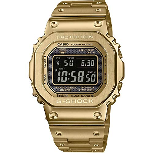 Casio G-Shock Limited Edition Mens Digital Gold IP Plated Stainless Steel Band Watch GMW-B5000GD-9ER 49mm Mens