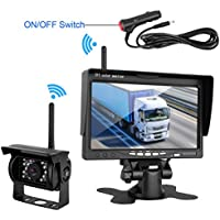 DohonesBest Wireless Built in Backup Camera and 7 Monitor kit Rear View Camera Waterproof IR Night Vision Parking Assistance System with Grid Lines optional for RV Truck Trailer Camper Motorhome Bus