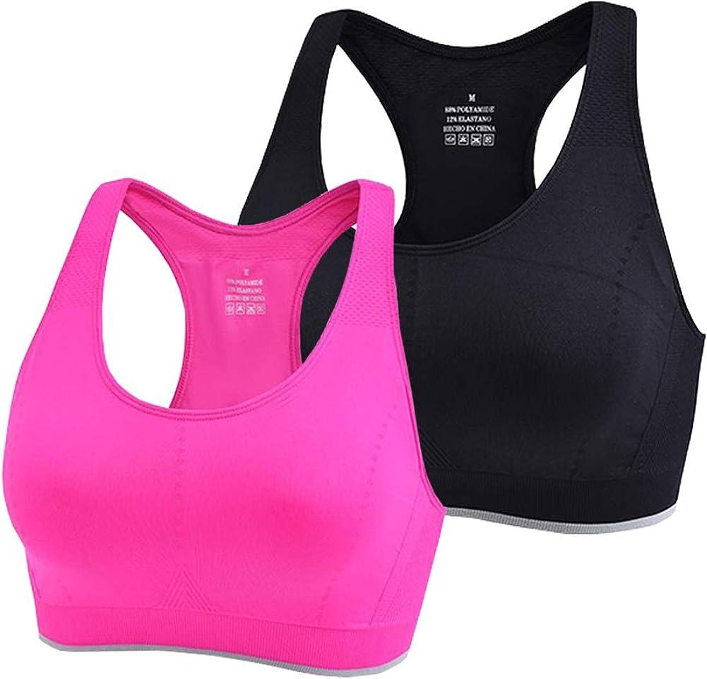 Colori High Impact Sports Bras for Women - Racerback No Padding Sports Bras Clothes for Women Workout Yoga Running