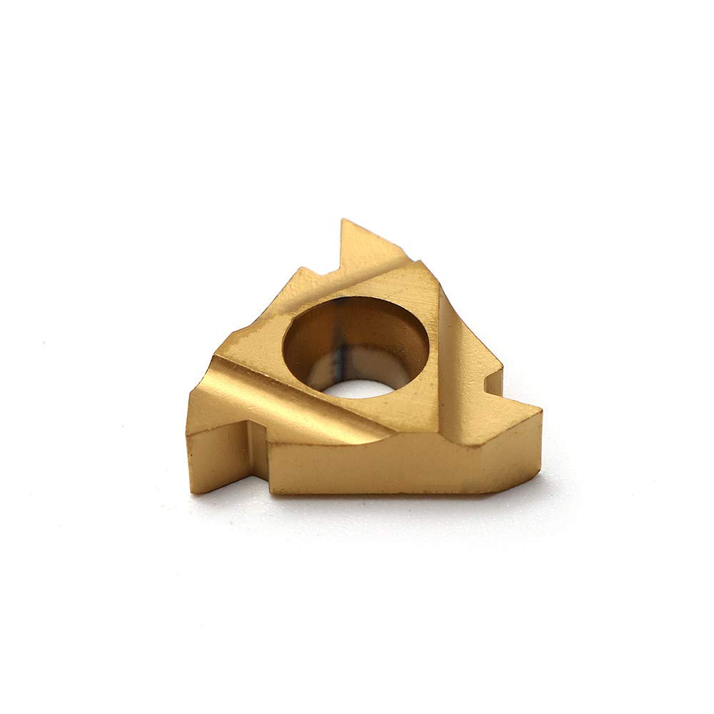 Autoday 10Pcs 16 ER 3//8 AG60 Carbide Inserts Blade Triangle External Thread CNC Blade for External Turning Tool Holder 16 IR 10 PCs