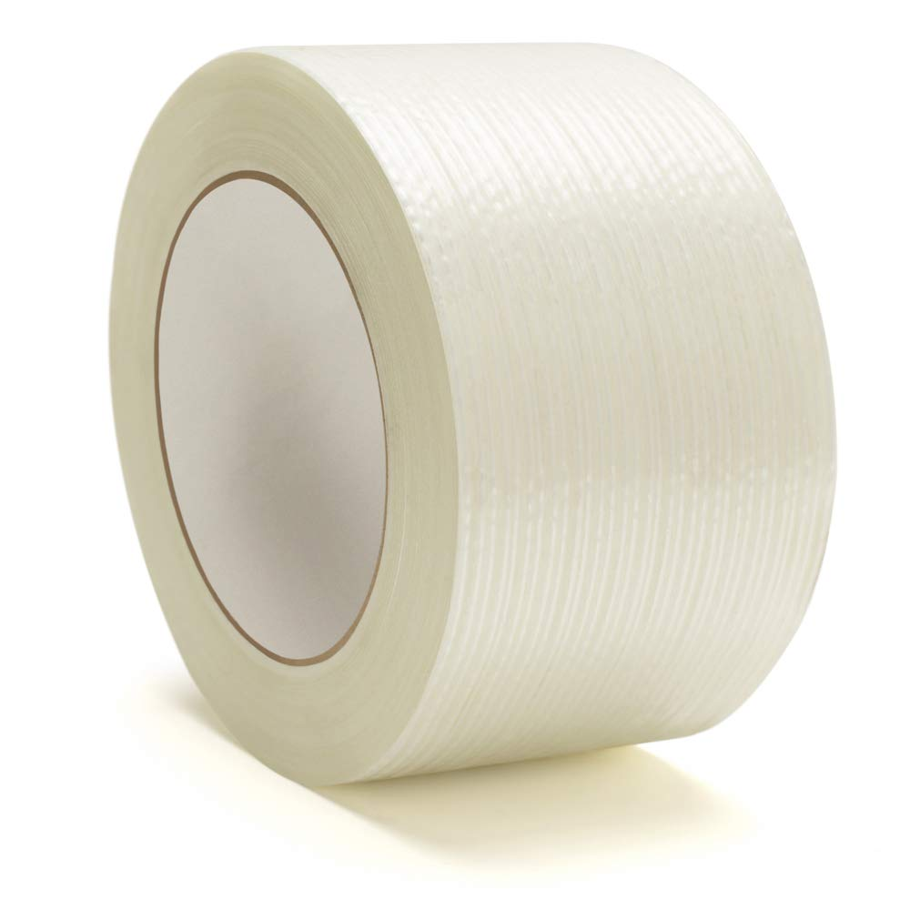 Heavy Duty Packing Tape, Filament Reinforced Tape Rolls, 4.0 Mil Thick, Clear, 2 Inch x 60 Yards, 12 Pack by PackagingSuppliesByMail