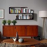 Klaxon Home Decor Wall Shelves/Book Shelf and Storage | Wall Shelves Wooden S Shape - (Brown,Matte Finish)(Do It Yourself - DIY)