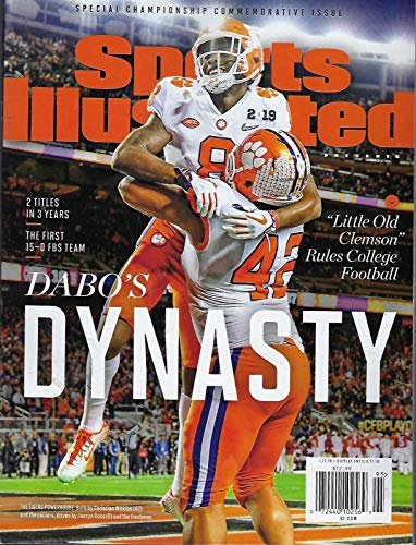 Clemson Sports Illustrated 2019 - Special Championship Commemorative Issue - Clemson Wins College Football Playoffs - 2018-2019 National Champions - Dabos Dynasty - Lawrence, Ross, Wilkins (College Football 2018)