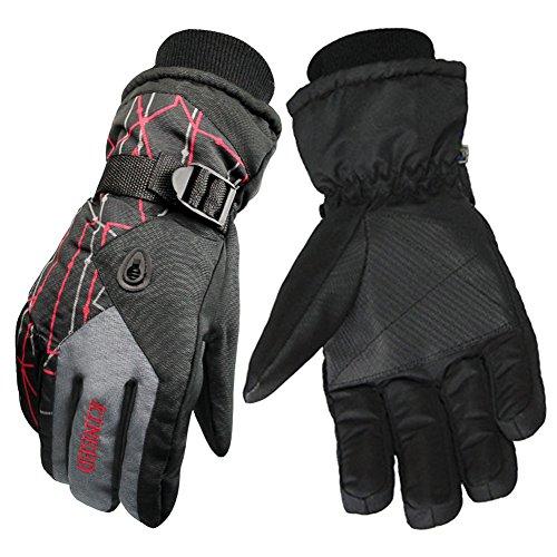New Hope Store Ski Gloves Winter Snow Gloves, Anti-Skid Wear-Resistant Riding Cotton PU Gloves for Men and Women Skiing, Snowboarding, Shredding, Shoveling, Snowballs