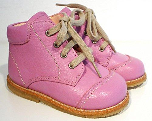 Angulus Halbschuhe Schnürer Leder pink