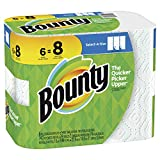 Bounty Select-a-size Paper Towels, White, 6 Big Rolls = 8 Regular Rolls, 6 Count
