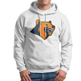 Enlove Chicago Bears Thin 100% Cotton Hoodies For Men Without Pockets