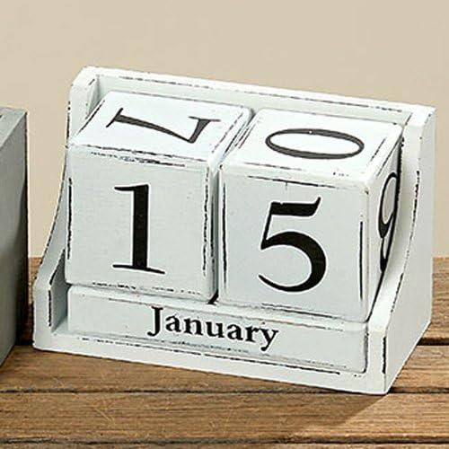 Dekolust Kalender Weiß 17 cm
