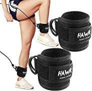 Ankle Straps for Cable Machines Padded Ankle Cuffs (Pair) - for Legs, Glutes, Abs and Hip Workouts Fits Women