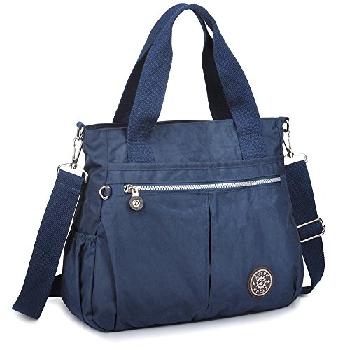 [ZYSUN Womens Nylon Designer Tote Crossbody Handbags Shoulder Diaper Bag(602,blue)] (Sale On Purses)