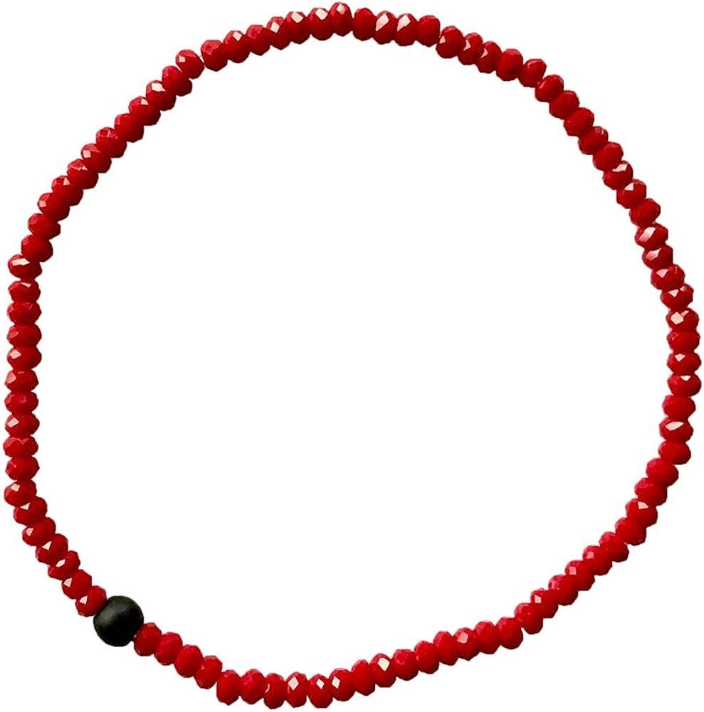 La protección de la cuerda roja gemstone estira la pulsera Shungite con Cristales