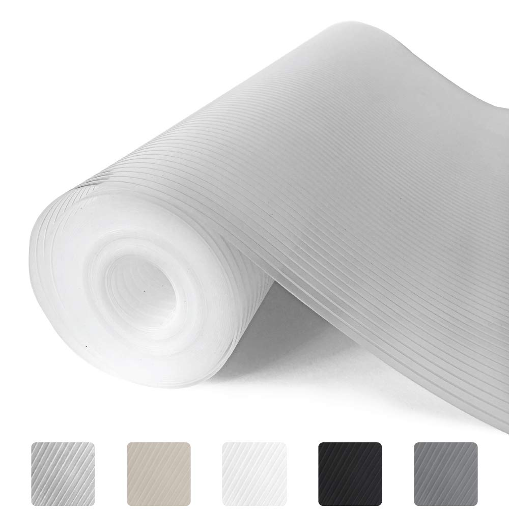Gorilla Grip Ribbed Top Drawer and Shelf Liner, Non Adhesive Roll, 17.5 Inch x 20 FT, Durable and Strong, Grip Liners for Drawers, Shelves, Kitchen Cabinets, Storage, Kitchens and Desks, Clear Ribbed