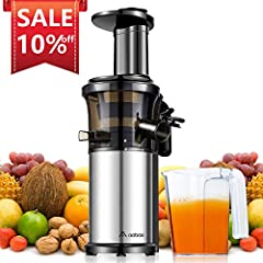 MultiUsage It can extract various of vegetables and fruits, such as celery, ginger, wheatgrass, leafy greens, carrot, apples, oranges, etc. Better masticating vegetables and fruits than other juicers, higher juice yield and drier pulp.  Nutri...