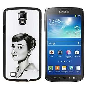 TECHCASE---Cubierta de la caja de protección para la piel dura ** Samsung Galaxy S4 Active i9295 ** --HEPBURN DIBUJO HERMOSA