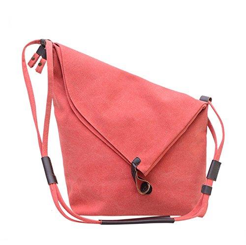 Wewod - Cartera de mano con asa de lino para mujer X-Large, color rojo, talla X-Large: Amazon.es: Zapatos y complementos