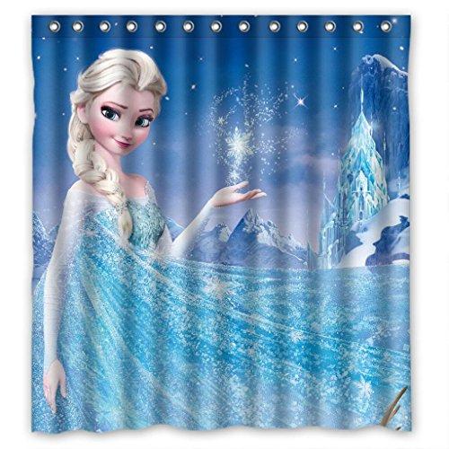 "Frozen fashion cartoon durable practical Shower Curtain Measure 66""(w)x72""(h)"