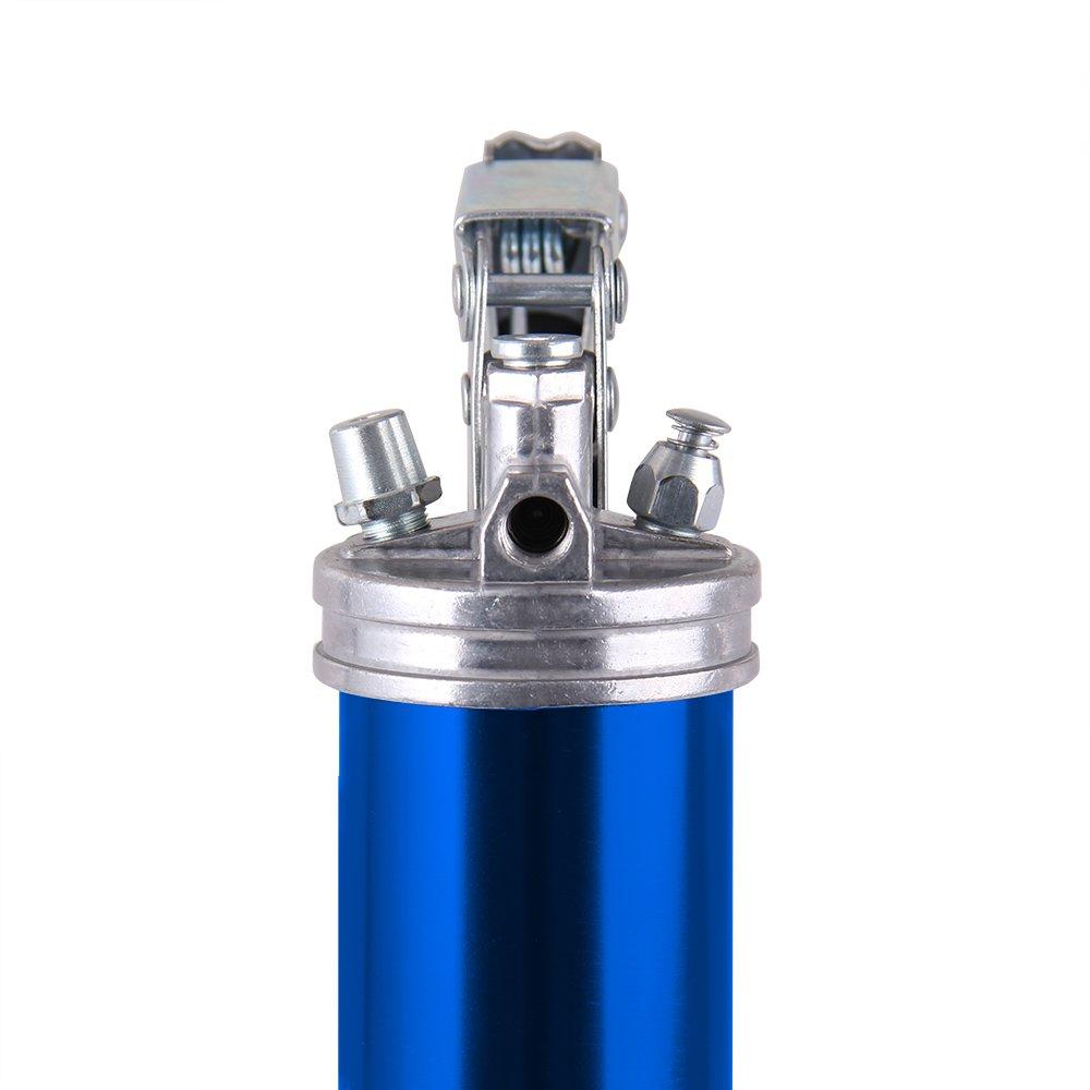 CarBole Pistola de Grasa Profesional de Alta Resistencia 4500 PSI Color Azul lubricaci/ón Lata de Aluminio anodizado con Manguera Flexible de 12 Pulgadas