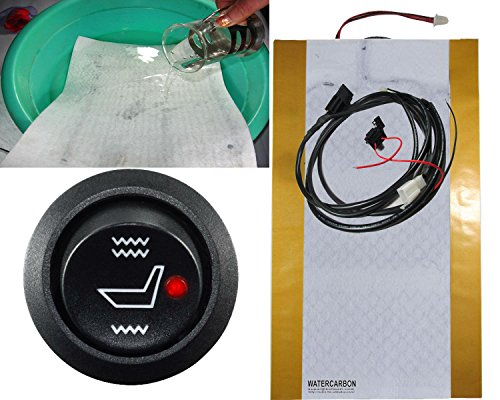 Water Carbon Waterproof 1 Seat Motorcycles Seat Heater Warm Winter Thermal Blanket Cushion Seat Heating Cushion Motorcycles Supplies Hot Pad 1 Seat 5 Years Warranty Motorcycle Seats Seat Heating Carbon Fiber Heater Heated Warmer Kit Accessories Material Fabric Cushion Sheet Control Pad Bag Covers for Cover Sheepskin Rear Sportbike Rain Fur