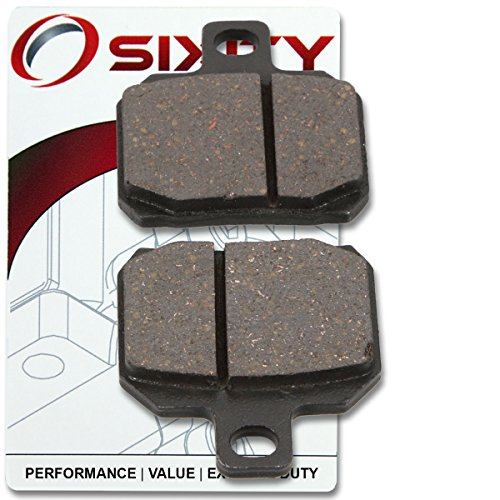 Sixity Rear Organic Brake Pads 2011-2014 Ducati Monster 796 Set Full Kit ABS Complete