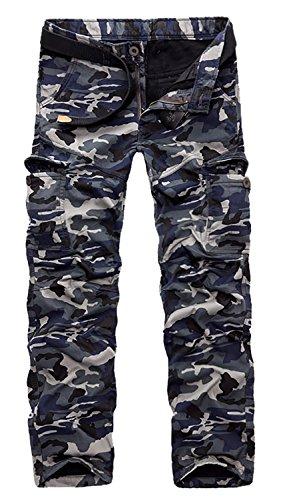 AOYOG Men's Fleece Lined Cargo Pant Windproof Work