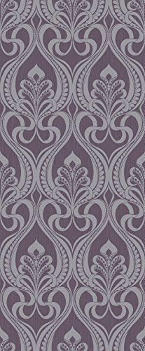 Amazon Com Grandeco Gold Art Nouveau Plum Wallpaper A16604