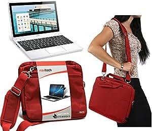 Navitech - Funda con Tapa para Ordenador portátil y Tablet, Color Rojo: Amazon.es: Electrónica